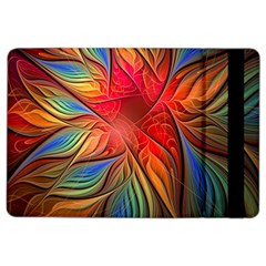 Vintage Colors Flower Petals Spiral Abstract Ipad Air 2 Flip by BangZart