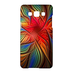 Vintage Colors Flower Petals Spiral Abstract Samsung Galaxy A5 Hardshell Case