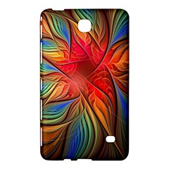 Vintage Colors Flower Petals Spiral Abstract Samsung Galaxy Tab 4 (7 ) Hardshell Case  by BangZart