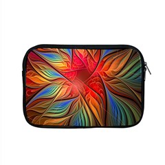 Vintage Colors Flower Petals Spiral Abstract Apple Macbook Pro 15  Zipper Case by BangZart