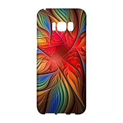 Vintage Colors Flower Petals Spiral Abstract Samsung Galaxy S8 Hardshell Case