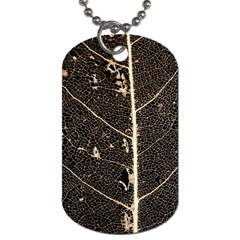 Vein Skeleton Of Leaf Dog Tag (two Sides) by BangZart