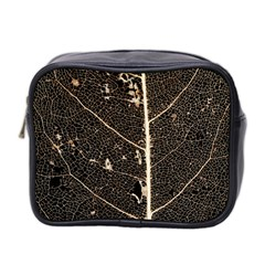 Vein Skeleton Of Leaf Mini Toiletries Bag 2 Side by BangZart