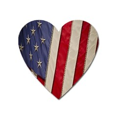 Usa Flag Heart Magnet
