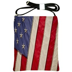 Usa Flag Shoulder Sling Bags by BangZart