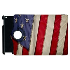 Usa Flag Apple Ipad 2 Flip 360 Case by BangZart