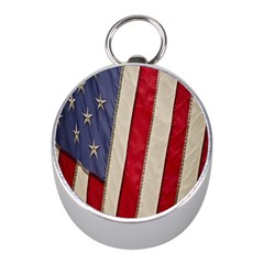 Usa Flag Mini Silver Compasses by BangZart
