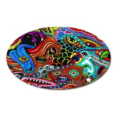 Vector Art Pattern Oval Magnet