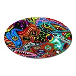 Vector Art Pattern Oval Magnet Front