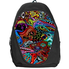 Vector Art Pattern Backpack Bag by BangZart