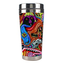 Vector Art Pattern Stainless Steel Travel Tumblers by BangZart