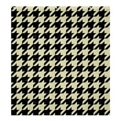 Houndstooth2 Black Marble & Beige Linen Shower Curtain 66  X 72  (large)  by trendistuff
