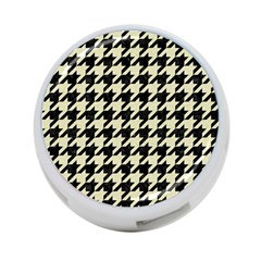 Houndstooth2 Black Marble & Beige Linen 4 Port Usb Hub (one Side) by trendistuff