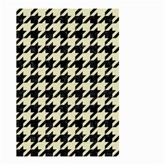 Houndstooth2 Black Marble & Beige Linen Small Garden Flag (two Sides) by trendistuff