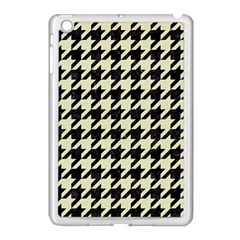 Houndstooth2 Black Marble & Beige Linen Apple Ipad Mini Case (white) by trendistuff