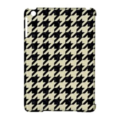 Houndstooth2 Black Marble & Beige Linen Apple Ipad Mini Hardshell Case (compatible With Smart Cover) by trendistuff