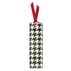 Houndstooth2 Black Marble & Beige Linen Small Book Marks by trendistuff