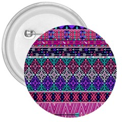 Tribal Seamless Aztec Pattern 3  Buttons by BangZart