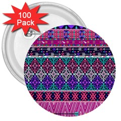 Tribal Seamless Aztec Pattern 3  Buttons (100 Pack)  by BangZart