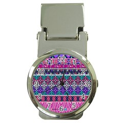 Tribal Seamless Aztec Pattern Money Clip Watches by BangZart