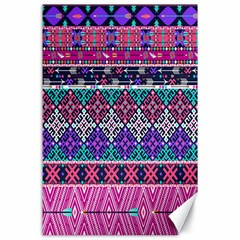 Tribal Seamless Aztec Pattern Canvas 24  X 36  by BangZart