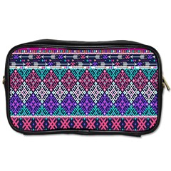 Tribal Seamless Aztec Pattern Toiletries Bags by BangZart