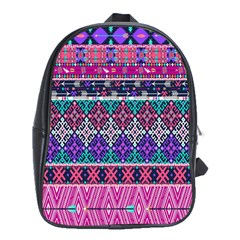 Tribal Seamless Aztec Pattern School Bags (xl)  by BangZart