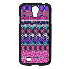 Tribal Seamless Aztec Pattern Samsung Galaxy S4 I9500/ I9505 Case (black) by BangZart