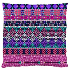 Tribal Seamless Aztec Pattern Large Flano Cushion Case (one Side) by BangZart