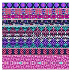 Tribal Seamless Aztec Pattern Large Satin Scarf (square) by BangZart