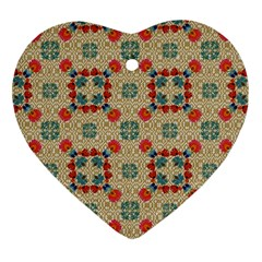 Traditional Scandinavian Pattern Ornament (heart) by BangZart