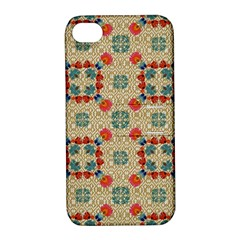 Traditional Scandinavian Pattern Apple Iphone 4/4s Hardshell Case With Stand