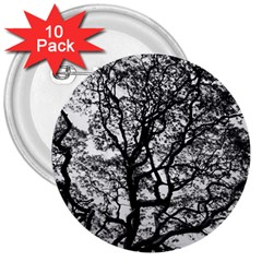 Tree Fractal 3  Buttons (10 Pack)