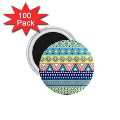 Tribal Print 1 75  Magnets (100 Pack)  by BangZart