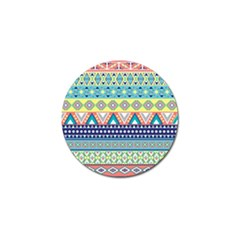 Tribal Print Golf Ball Marker (4 Pack)