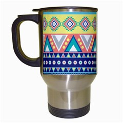 Tribal Print Travel Mugs (white)