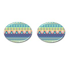 Tribal Print Cufflinks (oval) by BangZart
