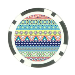 Tribal Print Poker Chip Card Guard by BangZart
