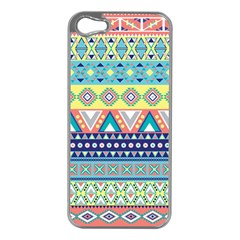 Tribal Print Apple Iphone 5 Case (silver) by BangZart
