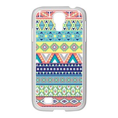 Tribal Print Samsung Galaxy S4 I9500/ I9505 Case (white) by BangZart
