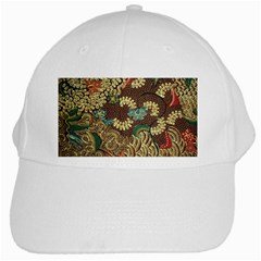 Traditional Batik Art Pattern White Cap by BangZart