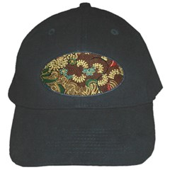 Traditional Batik Art Pattern Black Cap by BangZart