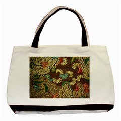 Traditional Batik Art Pattern Basic Tote Bag by BangZart