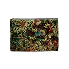 Traditional Batik Art Pattern Cosmetic Bag (medium)  by BangZart