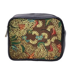 Traditional Batik Art Pattern Mini Toiletries Bag 2 Side
