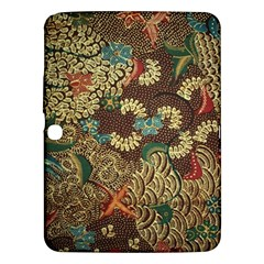 Traditional Batik Art Pattern Samsung Galaxy Tab 3 (10 1 ) P5200 Hardshell Case  by BangZart