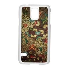 Traditional Batik Art Pattern Samsung Galaxy S5 Case (white) by BangZart