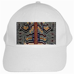 Traditional Batik Indonesia Pattern White Cap by BangZart