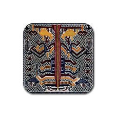 Traditional Batik Indonesia Pattern Rubber Coaster (square)  by BangZart