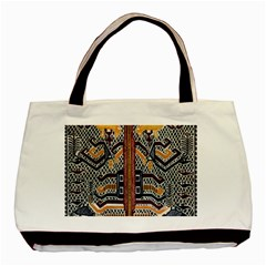 Traditional Batik Indonesia Pattern Basic Tote Bag by BangZart